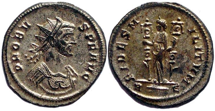 Aureliano de Probo. FIDES MILITVM. Roma R170.091104.AP
