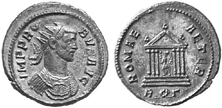 Antoniniano de Probo. ROMAE AETER. Roma R185.071104.KUNKER