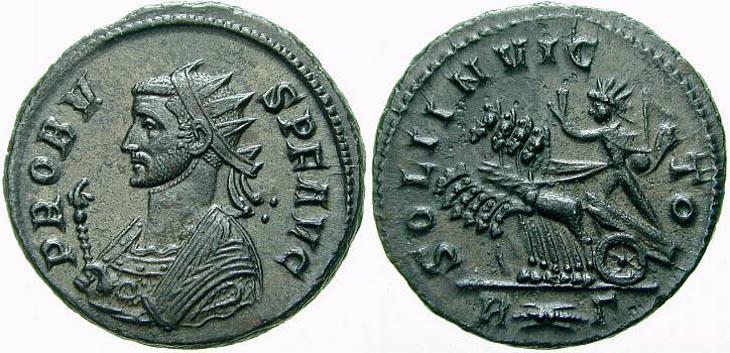 Aureliano de Probo. SOLI INVICTO. Roma R203.032503.PEUS