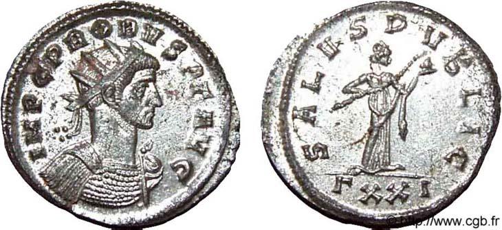 Aureliano de Probo. SALVS PVBLIC. Ticino R567.121002.CGB