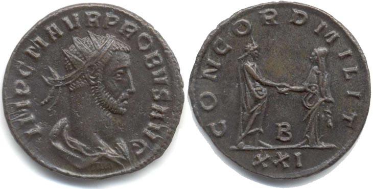Aureliano de Probo. CONCORD MILIT. Siscia  R651.160105.PG