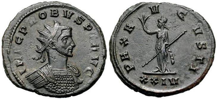 Aureliano de Probo. PAX AVGVSTI.  Siscia R712.191105.ZB