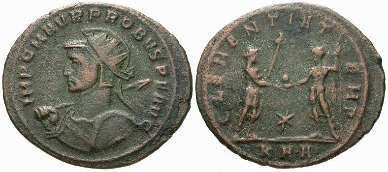 Aureliano (Antoniniano) de Probo. CLEMENTIA TEMP. Sérdica R838.240104.AT