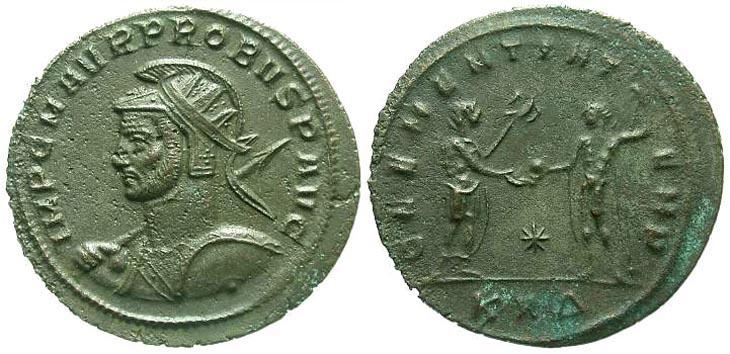 Aureliano (Antoniniano) de Probo. CLEMENTIA TEMP. Sérdica R839.140902.SERMARINI